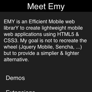 Emy WindowsPhone theme